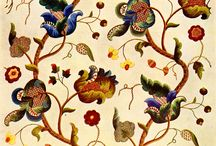 jacobean crewel fabric