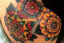 Flower traditional tattoo