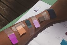 Palette: young romantic / Dark teal, orchid, pale lilac, peach, chestnut brown