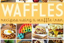 Waffle iron / recipes for the waffle iron