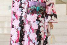 Kimono with flowers