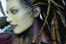 Aliens / aliens, fantastic creatures, unusual creatures, alien art