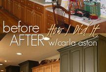 Oak cabinet redos