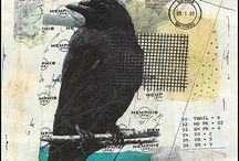 Karga (crow) / Karga, kargagiller (Corvidae) familyasından Corvus cinsini oluşturan, iri yapılı, düz gagalı, pençeli, tüyleri çoğunlukla siyah, yüksek ve rahatsız edici sesli kuş türlerinin ortak adı. Daha büyük ve genellikle leş yiyici olanlarına karakarga veya kuzgun denir.