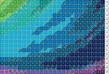 barevný systém patchwork