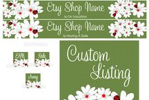 Spring Etsy Banner Designs / Give your Etsy shop a fresh look for spring!