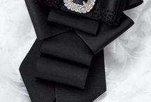брошь-галстук на блузу под воротник