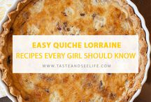 Recipes Every Girl Should Know / A collection of recipes every girl should know. These recipes consist of my favorite go-to dishes for brunch, potlucks, happy hours, and dinner parties.