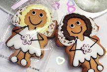Wedding cookies / Find our whole range of fantastic handcrafted cookies at www.customcookieco.co.uk