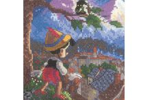 Thomas Kinkade Disney cross stitch