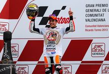 """Marc Marquez World Champion 2013! / Marc Marquez is the winner of the MotoGP Championship! To relive that day, which saw the youngest rookie rider obtain this important world title, by marking a new memorable record, here are the pictures that retrace the most exciting moments of the """"cabroncito""""'s triumph in Valencia."""