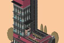 gif letter building