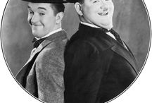 """Laurel & Hardy / """"If any of you cry at my funeral, I'll never speak to you again.""""  Stan Laurel  """"If you must make a noise, make it quietly.""""  Oliver Hardy"""