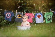 Braden's First Birthday / Superheroes  / by Britt West