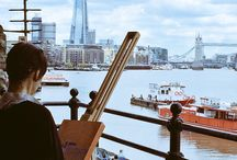 Painting along the Thames with John Myers / Pictures, drawings and paintings following a successful workshop between May 20th and June 24th 2015 with John Myers.