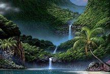 """Cachoeira, queda d'agua / """"Numa cachoeira folia das gotas do rio. São águas no cio."""" (Marcelo Santos Silvério)"""