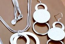 Conjunto de Prata Sterling 925 / Conjunto de Jóias  Colar e Brinco Modelo Fashion Tipo de Metal: Prata Sterling 925
