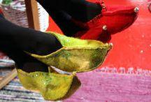 Huovutetut tossut ja saappaat / Felted slippers and boots
