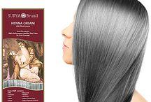 Grijze haarkleuring