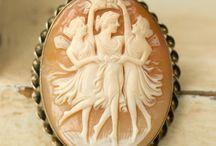 Cameo / Vintage Necklace, ring, bracelet