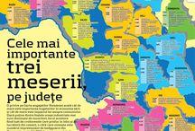 Statistici si infografice din Romania / O serie de statistici, informatii si infografice despre Romania