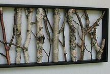 decoraçao com troncos