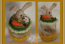 Glass cover / crochet