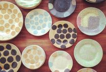 """Ceramic Plates ~197~ / """"I have a memory of my mother kneeling in front of a cabinet in our home, tenderly cradling her wedding china. We never used the plates; she died in her 40s without ever letting herself enjoy these gorgeous pieces. I told myself that I would use my precious items."""" Roma Downey   / by Beth Kahler"""