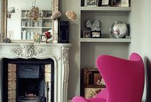 Sitting Room - Distressed Elegance with a touch of retro luxe
