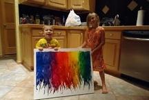 Kiddie art / kid art, fun with the kids