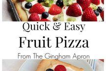 Dessert / Pizza aux fruits