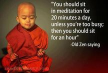 Let's try to meditate or at least think positive.