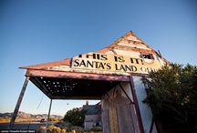 Abandoned santaland / Walking in a desert wonderland: Haunting photos of an abandoned Arizona Christmas theme park portray a once popular tourist spot after decades of decline in the Mojave heat / by Laura Perenic