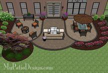 Záhradný domček a terasa