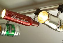 Reuse Your Old Beer Bottles! / Too many bottles to throw away or recycle? Use your #beer bottles to brighten up your home or to make things with! / by Kegerator.com
