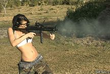 Moving Images (Gifs) / Moving Images of Girls with Guns!