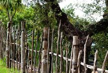 Rustikaler Zaun