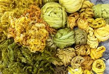 Natural Dyeing / We specialise in natural dyed cotton fabric using local sustainable plants.