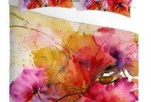 Floral Watercolor Duvet Covers
