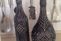 бутылки в декоре