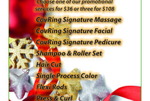 Holiday Gift Card Promotion / Salon/Spa gift card ideas for the holidays