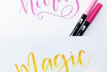 Lettering Using Tombow