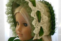 Headwear: Bonnets / Vintage bonnets for women, children and dolls