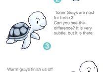 COPICS: GRAYS / Copic Marker Color Combinations