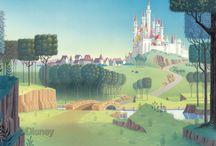 Castle kids room murals