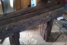 Railroad tie furniture / by Kimberly Nelson
