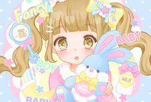 Anime pastel girl