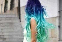 cheveux coloré