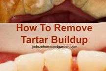 Remove tartar build up on teeth