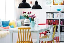 happy, bright & COLORFUL interiors / colorful, bold and brigt home staling inspirations - bunte und fröhliche wohn-ideen